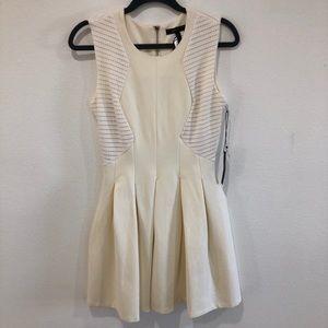 BCBG off white skater dress